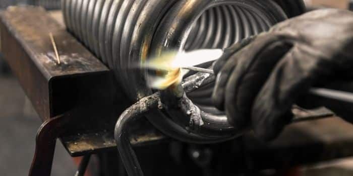 flame of oxyacetylene torch